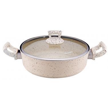 Алуминиева плитка  тенджера с незалепващо покритие кремава  28х8см   4.9л  (ETTCKK0528004)   - Hascevher