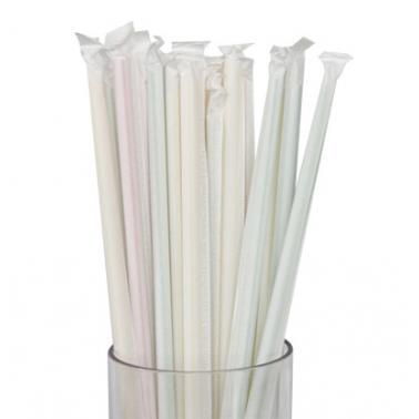 Пластмасови сламки   ф0.6х19.7см 200бр бели BARWARE- (HC-931003)  - Horecano