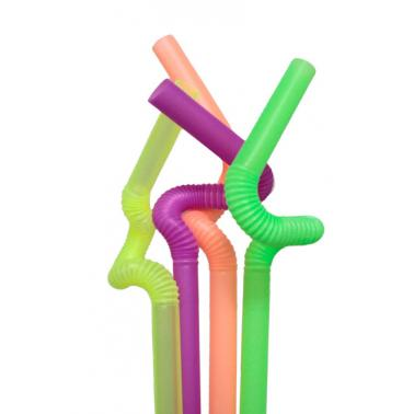 Пластмасови сламки ф1х26см 50бр цветни BARWARE- (HC-931004)  - Horecano