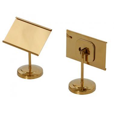 Метална информационна табелка за блок маса - златиста 10.5х9х5.3см GOLD SERVING UTENCILS-(HC-931035) 194683-1   - Horecano