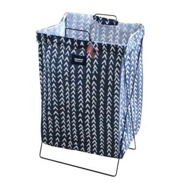 Кош за дрехи с метална рамка 35х26х59см синьо/бялос декор №931084- Horecano