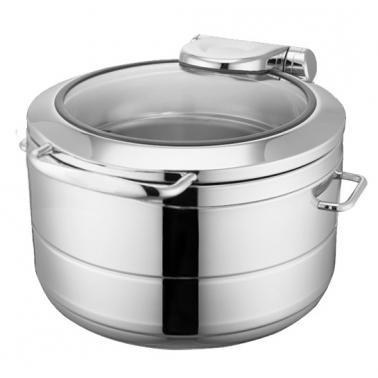 Иноксово Бен Мари кръгло с индукционно дъно за супа 43x48xh27,5см 11л (HC-931112) - Horecano