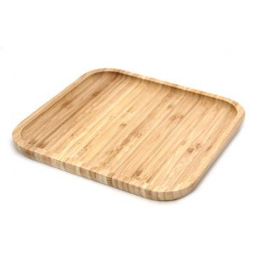 Бамбукова дъска за презентация квадратна 20х20х2см  HORECANO-(0193544-1)