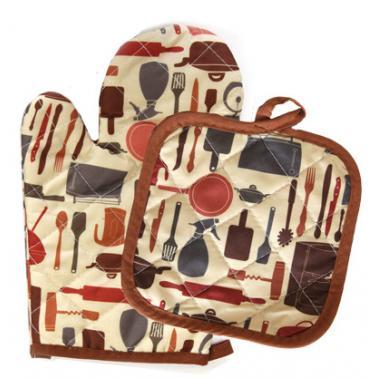 Текстилна ръкавица с ръкохватка комплект  CN-(Декор 0193561) - Horecano
