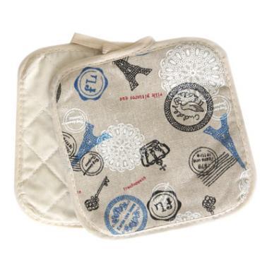Текстилни ръкохватки  комплект 2бр. 17х17см CN-(Декор 0193565-1) - Horecano