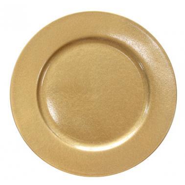 Полипропиленова подложна  чиния  златиста ф33см HORECANO-(0193644)