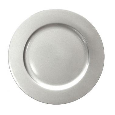 Полипропиленова подложна  чиния  сребриста  ф33см HORECANO-(0193645)