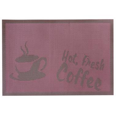 Подложка за хранене Hot Fresh Coffee 45x30см лилава PVC (0193653) - Horecano