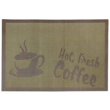 Подложка за хранене Hot Fresh Coffee 45x30см зелена (0193656) - Horecano