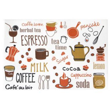 Подложка за хранене COFFEE TIME 45x30см PVC (0193668) - Horecano
