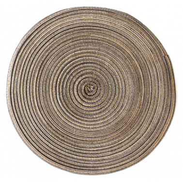 Подложка за хранене кръгла  ф38см златиста  PVC (9970-1) - Horecano