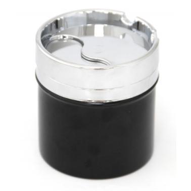 Пепелник  ветроустойчив черен инокс/пластмаса   ф8х8.5см HORECANO-(BK-6040B-1)