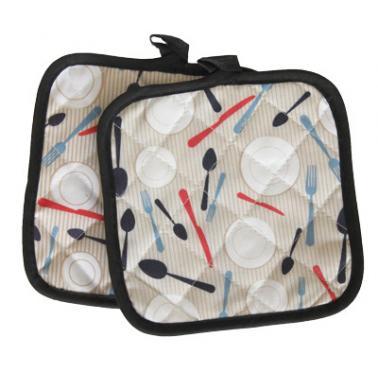 Текстилни ръкохватки комплек 2бр. 17х17см CN-(Декор 0193565-4) - Horecano