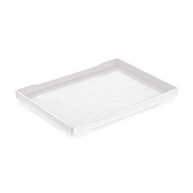 Меламинова  табла за хотелски консумативи  бяла 21х15.5х1.9см HORECANO-(8001)