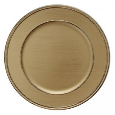 Полипропиленова подложна  чиния  златиста VINTAGE ф33см HORECANO-(HA295MP-R)
