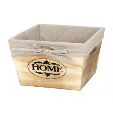 Дървена кутия за съхранение натурал 17х17х11см размер S CN-(ZM21-2ZF) - Horecano