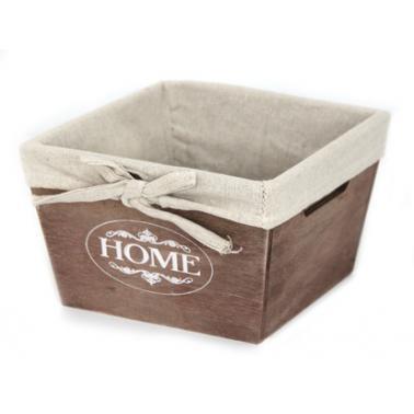 Дървена кутия за съхранение кафява 17х17х11см размер S CN-(ZM21-2ZF-brown) - Horecano