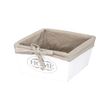 Дървена кутия за съхранение бяла 17х17х11см размер S CN-(ZM21-2ZF-white) - Horecano
