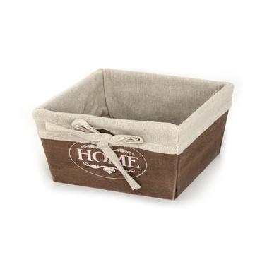 Дървена кутия за съхранение кафява 16х16х8см размер S CN-(ZM23-1ZF-brown) - Horecano