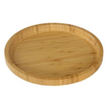 Бамбукова кръгла табла ф39.5xh2.5см  HORECANO-(HC-93801)