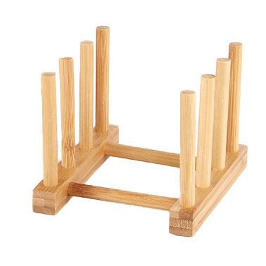 Бамбукова стойка за чинии 21х10см  HORECANO-(HC-93803)