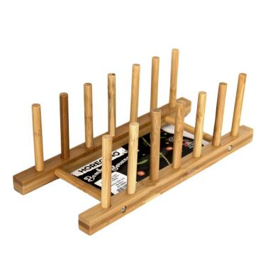 Бамбукова стойка за чинии 28х10см  HORECANO-(HC-93804)