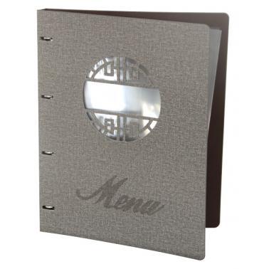Папка за меню с метален клипс 31.5х25см сива   HORECANO-(HC-93829)