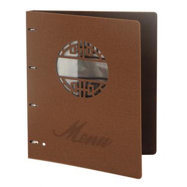Папка за меню с метален клипс 31.5х25см кафява HORECANO-(HC-93830)