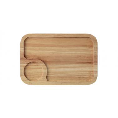 Дървена  дъска  за презентация правоъгълна  30x20x1.9см HORECANO-(HC-93838)