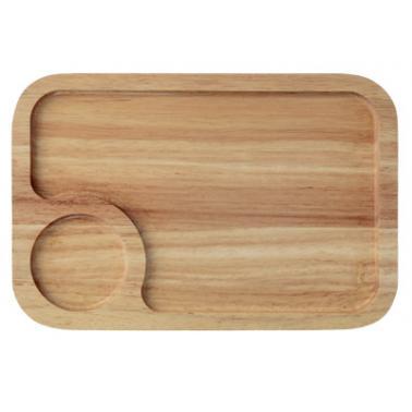 Дървена  дъска за презентация правоъгълна  35x25x1.9см HORECANO-(HC-93839)