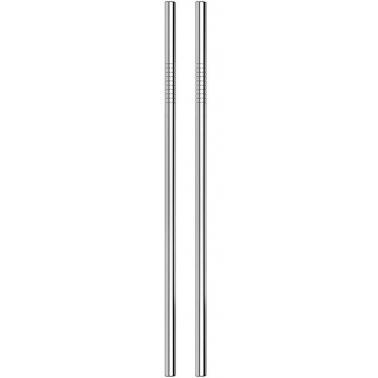 Метални сламки прави 6 бр. сребристи BARWARE-(HC-93910) 194559  - Horecano