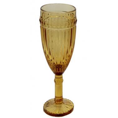 Стъклена чаша  за шампанско жълта  ф6х20см  190мл OLD SCHOOL- (HC-93953) - Horecano
