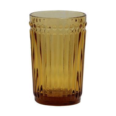 Стъклена чаша за безалкохолни напитки / вода  жълта  ф8х12.5см 360мл OLD SCHOOL- (HC-93956) - Horecano
