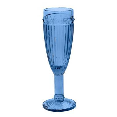 Стъклена чаша за шампанско ф6х20cm 190ml СИНЬО OLD SCHOOL-(HC-93958) 194610-1 - Horecano