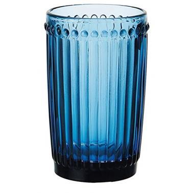 Стъклена чаша за безалкохолни напитки ф8х12.5cm 360ml СИНЬО OLD SCHOOL-(HC-93961) 194610-4 - Horecano