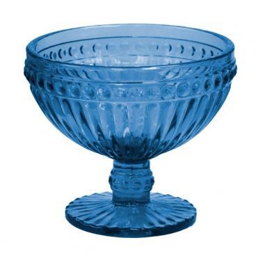 Стъклена чаша на столче за десерти / мелби ф12.5х10cm 370ml СИНЬО OLD SCHOOL-(HC-93962) 194610-5 - Horecano