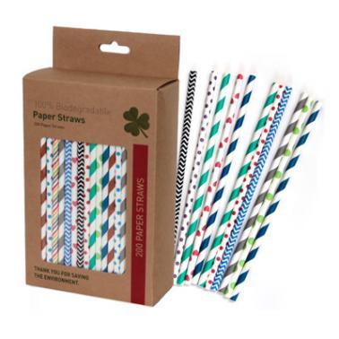 Хартиени сламки в  кутия 200 бр. шарени BARWARE-(HC-93972) - Horecano
