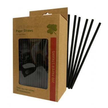 Хартиени сламки в кутия 200бр. черниBARWARE-(HC-93973) - Horecano