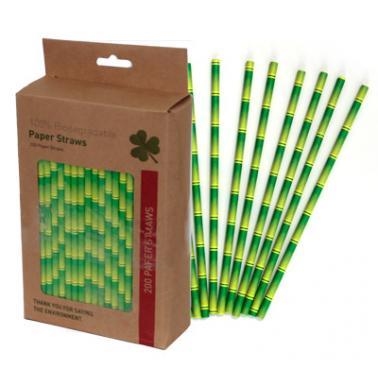 Хартиени сламки в  кутия 200 бр. зелени BARWARE-(HC-93974) - Horecano