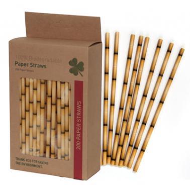 Хартиени сламки в  кутия 200 бр. жълти BARWARE-(HC-93976) - Horecano