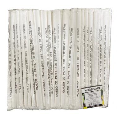 Хартиени сламки в опаковка 200бр. бели BARWARE-(HC-93978)(C) 194628 - Horecano
