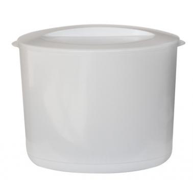 Акрилен съд за лед с капак двустенен бял 10л  HORECANO-(TA-11)