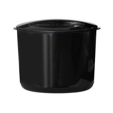 Акрилен съд за лед с капак двустенен черен 10л HORECANO-(TA-11)