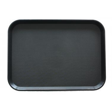 Пластмасова табла за сервиране с неплъзгащо покритие черна 30x41x1см. JW-A1216P - Horecano