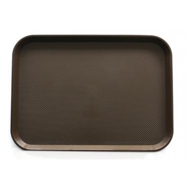 Пластмасова табла за сервиране с неплъзгащо покритие кафява 30x41,5x1см. JW-A1216P - Horecano