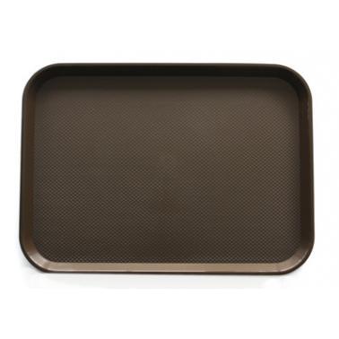 Пластмасова табла за сервиране кафява  30x45,5x1см JW-A1218P - Horecano