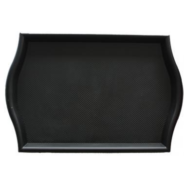 Пластмасова табла за сервиране с неплъзгащо покритие черна 30,5x45x1см. JW-E1218P - Horecano