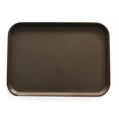 Пластмасова табла за сервиране 35,5x45,5x1см  кафява  JW-A1418P - Horecano