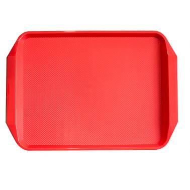 Пластмасова табла за сервиране с неплъзгащо покритие червена 30x42,5x1см. JW-D1217P - Horecano