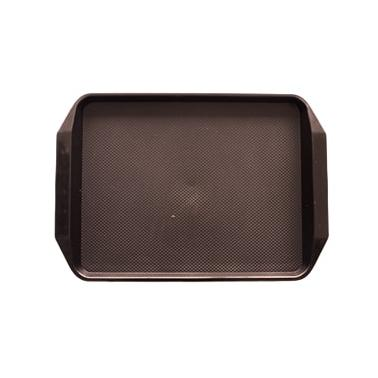 Пластмасова табла за сервиране 30x42,5x1cм кафява  JW-D1217P - Horecano